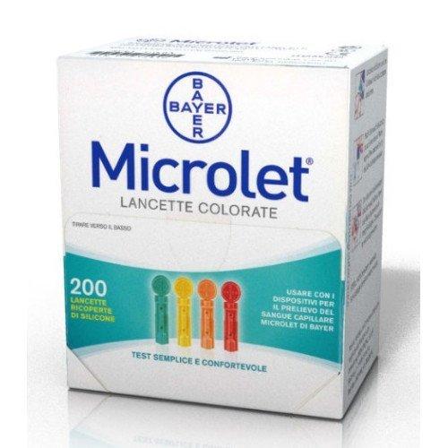 MICROLET Lanzetten farbig 200 St Lanzetten (Lanzette Microlet)