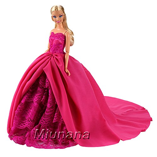 1d3197d00 Miunana 1 Princesa Elegante Vestido de Noche Novia Vestir Boda Ropa de Fiesta  para la Muñeca