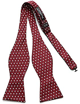 PenSee–Bolsita de flores geométricas tejido seda Self lazo ties-various colores