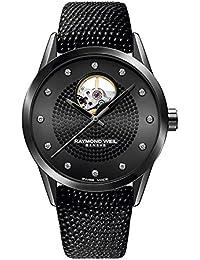 Raymond Weil Freelancer Reloj de mujer diamante automático 38mm 2750-BK-20181
