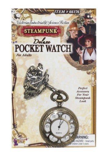 Steampunk Deluxe Taschenuhr Kostüm Zubehör (Aviator Kostüme)