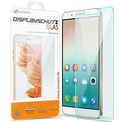 zanasta Bildschirmschutz Folie kompatibel mit Huawei ShotX (Honor 7i) Bildschirmschutzfolie aus gehärtetem Glas Schutzglas Glasfolie Schutzfolie | Klar Transparent