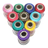 #4: BeadsnFashion Silk Embroidery Jewellery Making Thread Pack of 10