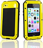 SAVFY [NEW Fingerprint Function] iPhone 5S/5/5SE Aluminum Metal Case RainProof Shock/Dirt/Dust Proof Gorilla Glass Cover - Dual Layer EXTREME Protection [Metal Slate] Heavy Duty Military Metal Cover