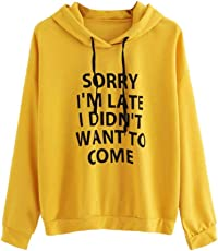 Outtop(TM) Women's O-Neck Hoodie Jumper Letter Print Sweatshirt Pullover Tops