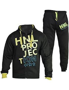 Niños niñas niños funda Chándal HNL Projection impresión sudadera con capucha y parte inferior Jogging traje edad...
