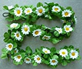 Blumengirlande Sonnenblumen CBK-MS® weiß ~ ca. 120 cm ~ zum verschönern Ihres Fahrrades oder Ihrer Wohnung