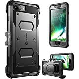 i-Blason iPhone 7 Plus Case, iPhone 8 Plus Case Shock Reduction / Bumper Case (Black)