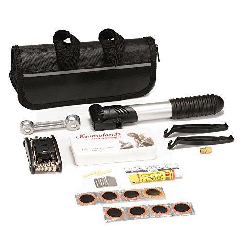 zantec tragbar Fahrrad Reparatur Tool Kit Multifunktions Fahrrad Werkzeug faltbar 16in1Schlüssel-Set komplett-Set Tire Repair Tools mit Mini Manuelle Pumpe für jeden Notfall