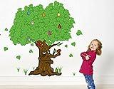 Klebefieber Wandsticker Märchenhafter Baum B x H: 120cm x 136cm