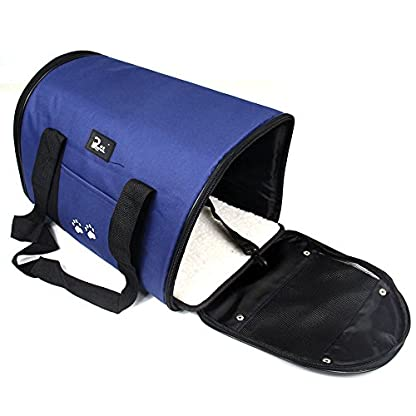Nestling® Blue Oxford Cloth Pet Carrier Bag Dog Cat Bag Foldable Pet Travel Carrier Ideal for Puppy, Cat, Rabbit and… 3