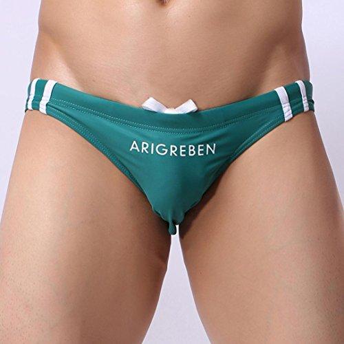 Coolster Herren Stretch Verstellbare Slips Swim Panties Dreieckige Trunks Shorts Bademode Navy