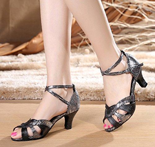 TDA ,  Damen Peep Toes 6cm Heel Black