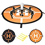 Neewer Almohadilla de Aterrizaje Helipuerto Rápido de Plegar para Drones RC Helicópter DJI Phantom 2/3/4/4 Pro, Inspire 2/1, Yuneec Typhoon, 3DR Solo, GoPro Karma,Antel Robotic X-Star(110 centímetros)