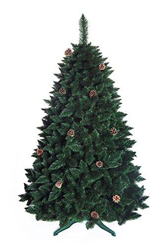 Albero Di Natale Pino naturale con cono di neve Grande Verde Foresta Tradizionale Con Base In Scatola Nuovo - 150cm - NATURAL PINE