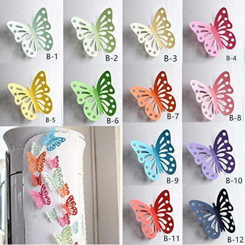 DOLDOA 20er set 3D Schmetterling Aufkleber Wandsticker Wandtattoo Wanddeko für Wohnung (B: 9 x 8CM/3,54