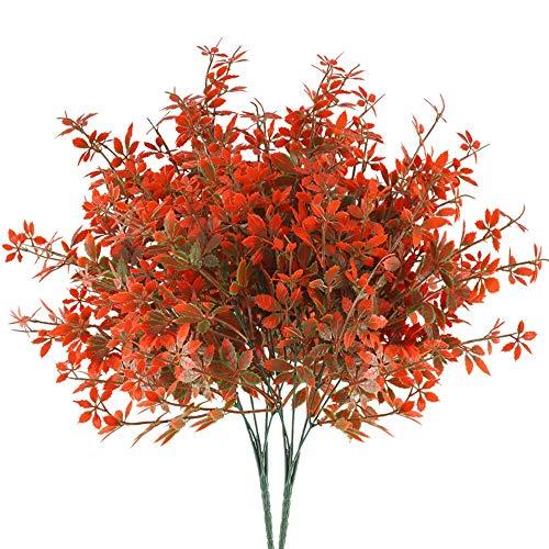 HUAESIN 2Pcs Flores Artificiales Pequeña Hojas Arce