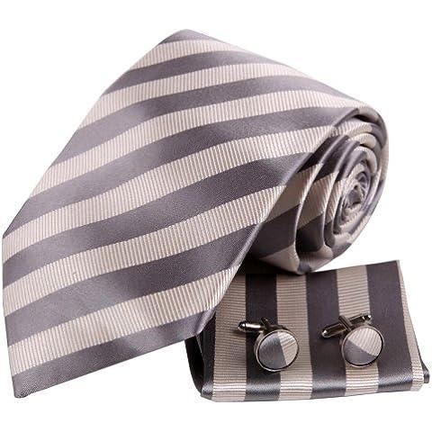 YAC2A08 cl¨¢sico raya corbata de seda de colores Varios Fant¨¢stico 3PT regalo por Y&G