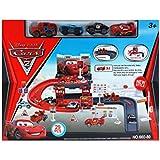 Disney Pixar Cars 2 Kids Toy 29 PCs Racing Track Parking Garage