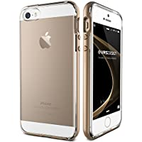 iPhone SE Case / iPhone 5S Case / iPhone 5 Case VRS Design® [Champagne Gold] Dual Layer Clear Back Slim Fit Shockproof Protective Cover [Crystal Bumper]