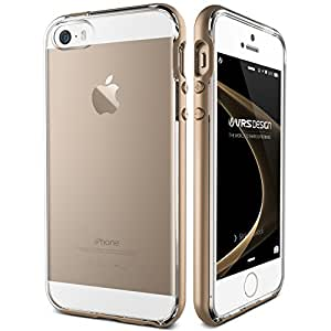 iPhone SE Case, VRS Design [Crystal Bumper][Champagne Gold] - [Clear][Minimalistic][Slim Fit] - For Apple iPhone SE