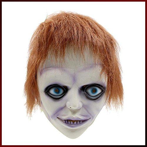 Kostüm Skelett Diy Boy (SQCOOL Halloween Maske Horror Bad Kind verkleiden Requisiten Latex Kopf Set Rolle spielen Tanz)