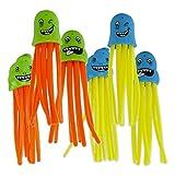 6er Set Lustiges Tauch Spielzeug Badespielzeug 'Octopuss'in knalligen Sommerfarben