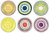 6er Set Essteller Cefalu im farbenfrohen Mediterranen-Stil - Rose&Tulipani