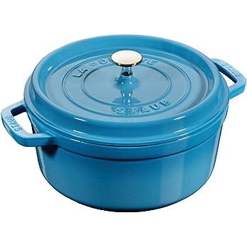 STAUB Cocotte redondo de hierro fundido de 24 cm, color azul