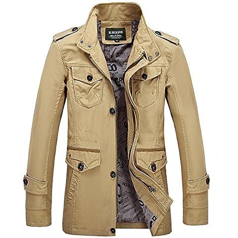 HENGJIA Blouson Homme Manches longues Jacket Casual Veste Printemps Automne