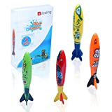 Edealing 4PCS Toypedo Bandits Toy Torpedo Dive Swim Sticks Piscina Vasca da Bagno Fun