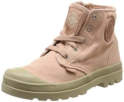 Palladium Pampa Hi Zip K, Boots mixte enfant - Rose (Salmon Pink/Putty), 29 EU