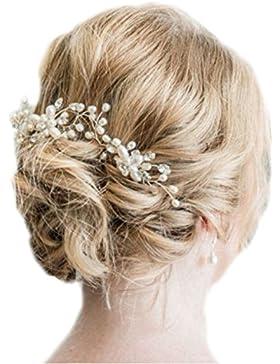 Haarnadel XL Haarnadeln Tiara Haarschmuck Strass Perlen Hochzeit Kommunion Braut Taufe Haarnadeln XL Haarnadeln