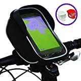 BTR Handyhalterung Fahrrad Fahrradtasche mit 2 LED Schnellbefestigungsleuchten