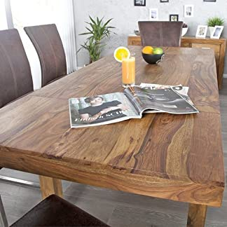 51Uw%2BVv5dGL. SS324  - Tavolo da pranzo BONJANNA, vero legno Sheesham massiccio, 120 cm allungabile fino a 200 cm