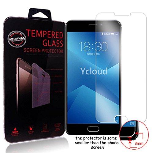 Ycloud Panzerglas Folie Schutzfolie Bildschirmschutzfolie für Meizu M5 Note screen protector mit Härtegrad 9H, 0,26mm Ultra-Dünn, Abger&ete Kanten
