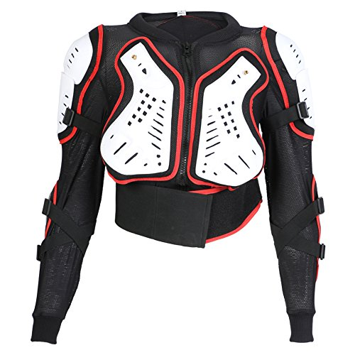 Red White /& Black Kids Motorbike MX Enduro Sports Body Armour Jacket Ages 4,6,8,10,12