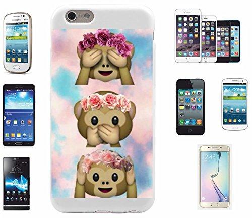 """Preisvergleich Produktbild Smartphone Case Samsung Galaxy S7 edge """"Drei Affen Nichts Böses Sehen Sagen Hören mit Wolken"""", der wohl schönste Smartphone Schutz aller Zeiten."""