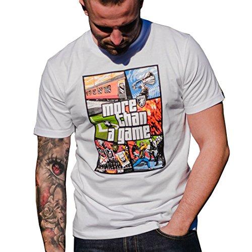 PG Wear T-Shirt More than a Game in schwarz weiß grau S-3XL Weiß