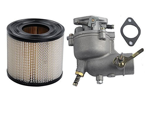 0.75 Hp Air (OxoxO Carburetor 393957 Air Filter Cartidge For Briggs and Stratton 7 & 8 HP ENGINES, REPLACES 390323 394228 170401 190412 195422 Lawn Mower Replace Carb)