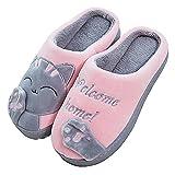 Cliont Carine Pantofole di Gatto Pantofole Invernali da Interno Scarpe Antiscivolo Regalo Natalizio per Donna e Uomo