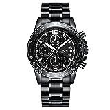 Relojes para Hombres LIGE 2018 Reloj de Lujo de Acero y Cuarzo Regalos de Moda Correa de Acero Inoxidable Deporte Casual Cronómetro Relojes con cronógrafo a Prueba de Agua para Hombre Reloj de c