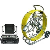 GOWE orientabile a 360 gradi per conduttura-Pulsante di scarico per water pipe Telecamera di ispezione a 60 m di cavo sensore, misura: 1/10,16 cm; (4 Risoluzione orizzontale: 600TVL del Sistema NTSC;