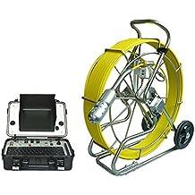GOWE 60m Tubo fogna Inspección Crawler Robot con Joystick para cámara PT Sensor Size Color 1/10,2cm; Resolución Horizontal Color 600TVL; señal: NTSC