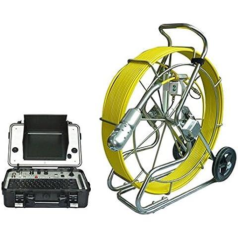 GOWE orientabile a 360 gradi per conduttura-Pulsante di scarico per water pipe Telecamera di ispezione a 60 m di cavo sensore, misura: 1/10,16 cm; (4 Risoluzione orizzontale: 600TVL sistema PAL segnale;