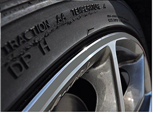 10mm Grau Felgenrand Aufkleber 10-24 Zoll Radgröße passend für Motorrad und Auto geeignet