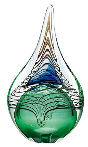 Große feinstes Crystal Glas-Art Briefbeschwerer–Deko Glas Ornament/Unikat Mittelpunkt–22cm Glas Geblasen Vase