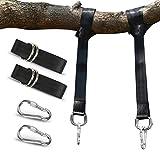 POOTACK Baum Swing Hanging Gurt Kit Hält 800kgs / 3520lb, Polyester-Faser Riemen mit 2 Safety Lock Karabiner Haken & 2 langlebige D-Ring für Baum Swing & Hängematten, mit Carry Pouch (300CM)