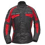 Roleff Racewear Gr. M Motorradjacke Reno RO 7033, Schwarz/Rot, Größe M