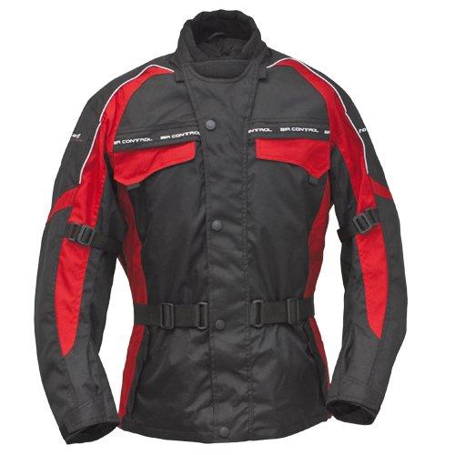 Roleff Racewear Motorradjacke Reno RO 70i, Schwarz/Rot, Größe XXL